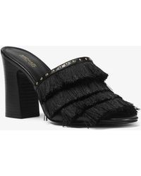 Michael Kors - Gallagher Fringed Leather Mule - Lyst