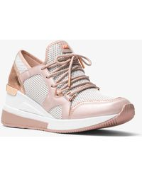 Michael Kors - Scout Leather And Mesh Sneaker - Lyst