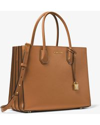 a6677955d200 Michael Kors - Mercer Large Pebbled Leather Accordion Tote - Lyst
