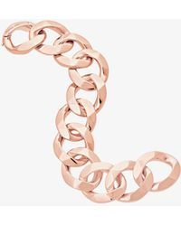 Michael Kors - Rose Gold-tone Chain-link Bracelet - Lyst