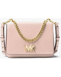 Michael Kors - Mott Leather Crossbody - Lyst