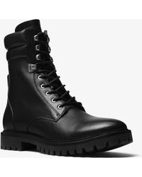 Michael Kors - Wilder Leather Combat Boot - Lyst