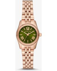 Michael Kors - Petite Lexington Rose Gold-tone Watch - Lyst