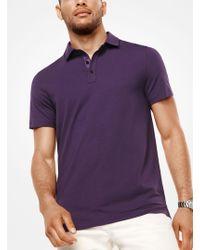 Michael Kors - Bryant Stretch-cotton Polo Shirt - Lyst