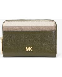 56a45c0ec9a3 Michael Kors - Small Tri-color Pebbled Leather Wallet - Lyst