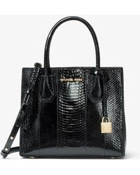 Michael Kors - Mercer Medium Snakeskin Crossbody Bag - Lyst