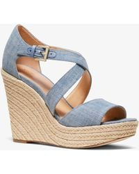 Michael Kors - Zeppa Abbott in denim - Lyst