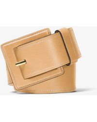 Michael Kors - Vachetta Leather Belt - Lyst