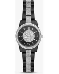 Michael Kors - Petite Runway Pave Ceramic Watch - Lyst