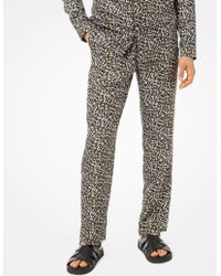 Michael Kors - Pantaloni pigiama in seta con stampa camouflage - Lyst