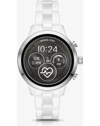 Michael Kors - Runway White Smartwatch - Lyst
