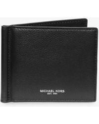 Michael Kors - Bryant Leather Money Clip Wallet - Lyst