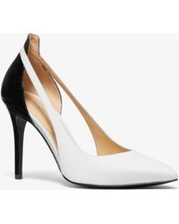 c801b899c06c Michael Kors - Cersei Two-tone Leather Cutout Pump - Lyst