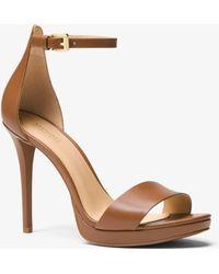 Michael Kors - Hutton Leather Sandal - Lyst