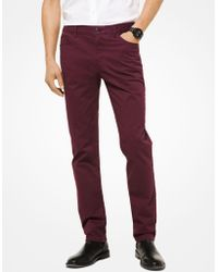 Michael Kors - Parker Slim-fit Stretch-twill Trousers - Lyst