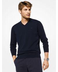 Michael Kors - Cotton V-neck Pullover - Lyst
