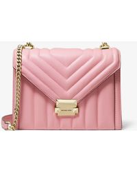 1f64dec98034 MICHAEL Michael Kors - Whitney Large Quilted Leather Convertible Shoulder  Bag - Lyst