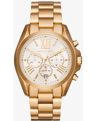 Michael Kors - Oversize Bradshaw Gold-tone Watch - Lyst