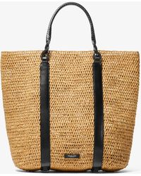 e3b9ead3a8ee Michael Kors - Antibes Extra-large Raffia Tote Bag - Lyst
