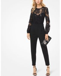 Michael Kors - Sequined Mesh Jumpsuit - Lyst
