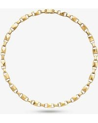 Michael Kors - Precious Metal-plated Sterling Silver Mercer Link Necklace - Lyst