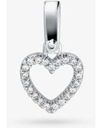 Michael Kors - Sterling Silver Pavé Heart Charm - Lyst