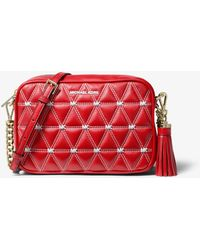 acc804348a16e4 MICHAEL Michael Kors - Ginny Medium Quilted Leather Crossbody Bag - Lyst