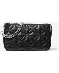 Michael Kors - Medium Floral Quilted Leather Chain Pouch - Lyst