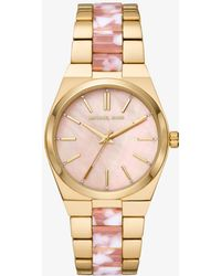 Michael Kors - Channing Gold-tone And Acetate Watch - Lyst