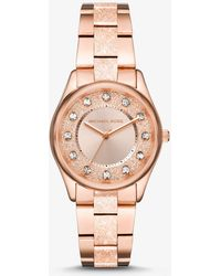 Michael Kors - Colette Textured Rose Gold-tone Watch - Lyst