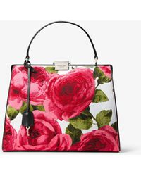 Michael Kors - Simone Rose Brocade Top-handle Bag - Lyst