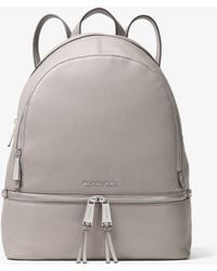 9bfb524e8fe26 MICHAEL Michael Kors - Rhea Large Leather Backpack - Lyst