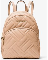 Michael Kors - Abbey Medium Quilted Leather Backpack - Lyst