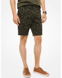 Michael Kors - Stretch-cotton Camouflage Shorts - Lyst