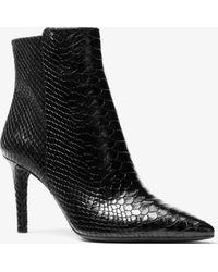 Michael Kors - Dorothy Snake-embossed Leather Ankle Boot - Lyst