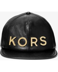 Michael Kors - Embellished Leather Hat - Lyst