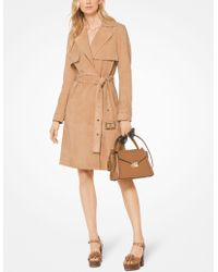 Michael Kors - Belted Suede Trench Coat - Lyst