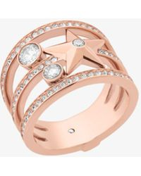 Michael Kors - Rose Gold-tone Celestial Ring - Lyst
