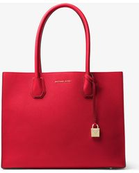 Michael Kors - Mercer Extra-large Leather Tote - Lyst