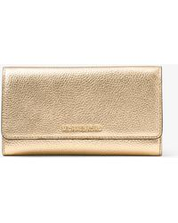 Michael Kors - Mercer Tri-fold Metallic Leather Wallet - Lyst