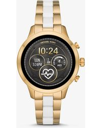 Michael Kors - Runway Heart Rate Gold-tone And Silicone Smartwatch - Lyst