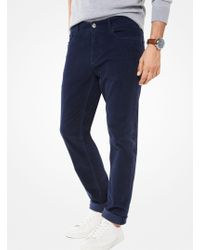 Michael Kors - Parker Slim-fit Corduroy Pants - Lyst