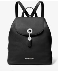 dcec4a56a7c2 Lyst - Michael Kors Addison Small Pebbled Leather Backpack in Black