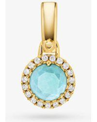 Michael Kors - Custom Kors Semi-precious Sterling Silver Charm - Lyst