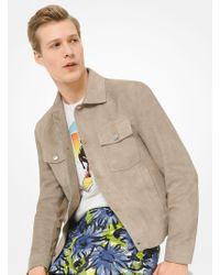 3de17f1b70a8 Lyst - Michael Kors Leather Field Jacket in Brown for Men