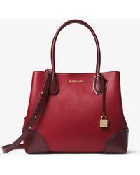 628cb6a8af35 MICHAEL Michael Kors - Mercer Gallery Medium Color-block Leather Satchel -  Lyst