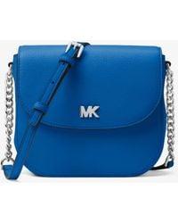 24d6a15f9af2 MICHAEL Michael Kors - Mott Leather Dome Crossbody Bag - Lyst