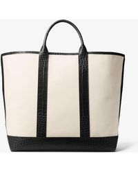 Michael Kors - Georgica Extra-large Canvas And Leather Tote - Lyst