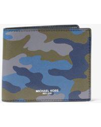 Michael Kors - Harrison Camouflage Billfold Wallet - Lyst