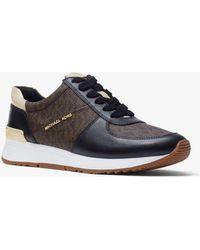 Michael Kors - Sneaker Allie in pelle con logo - Lyst
